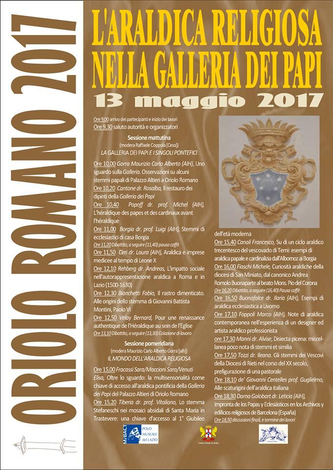 Pubblicazioni Matrimonio Oriolo Romano : Araldica a palazzo altieri u2013 oriolo romano 2017 centro studi araldici
